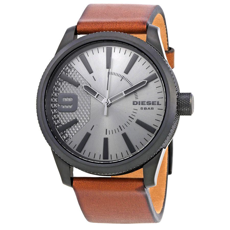 นาฬิกาผู้ชาย Diesel รุ่น DZ1764, Rasp Grey Dial Brown Leather
