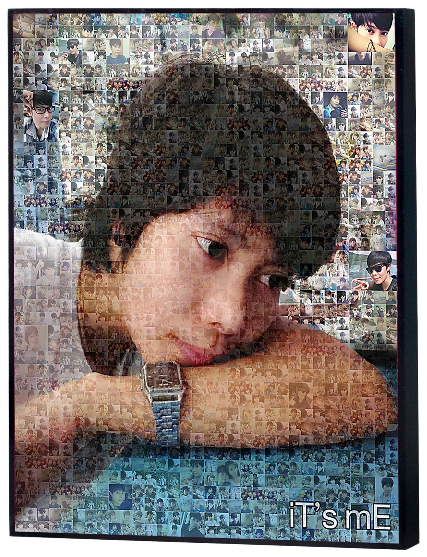Mosaic Photo ขนาด16x20 นิ้ว กรอบลอยด้าน