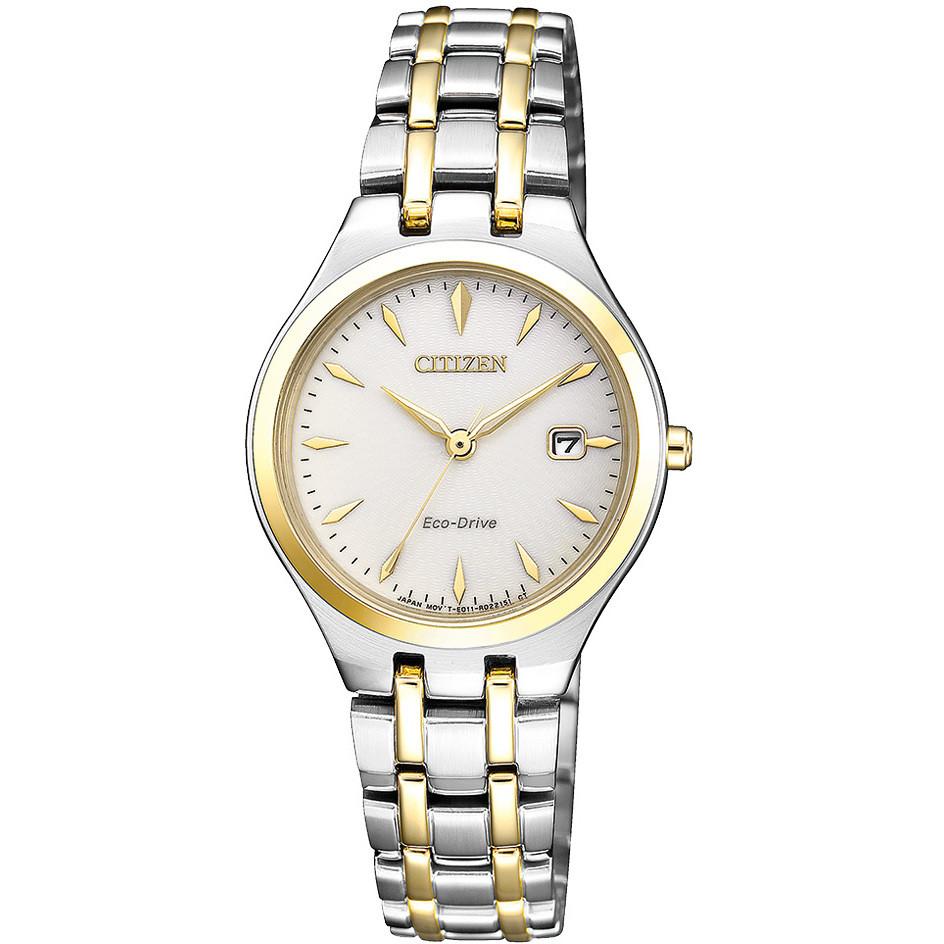 นาฬิกาผู้หญิง Citizen รุ่น EW2484-82B, Eco-Drive Two-Tone Women's Watch
