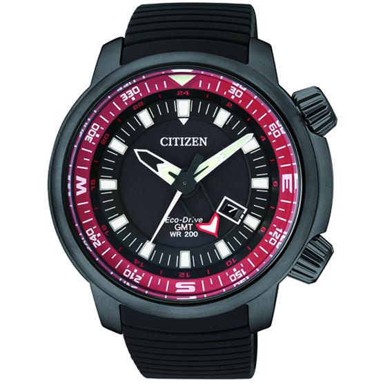นาฬิกาข้อมือผู้ชาย Citizen Eco-Drive รุ่น BJ7085-09E, GMT Diver's 200M
