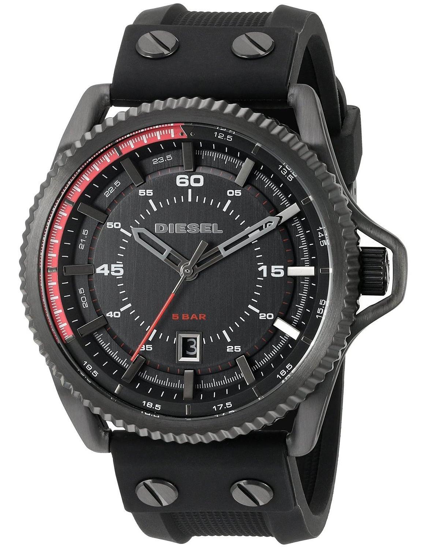 นาฬิกาผู้ชาย Diesel รุ่น DZ1760, Rollcage Black Silicone Strap Watch