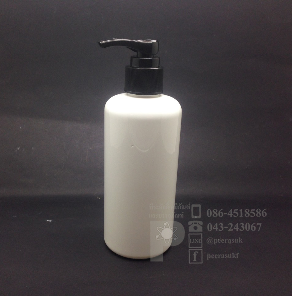 EE250 ml สีขาว+ปั้มดำ 10 ชิ้น