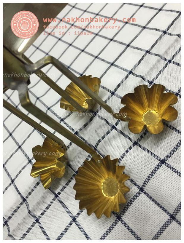 พิมพ์กระทงทอง 2 ดอก ขนมไทย