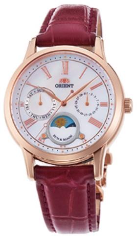 นาฬิกาผู้หญิง Orient รุ่น RA-KA0001A00C, Quartz Classic Sun & Moon Japan Women's Watch