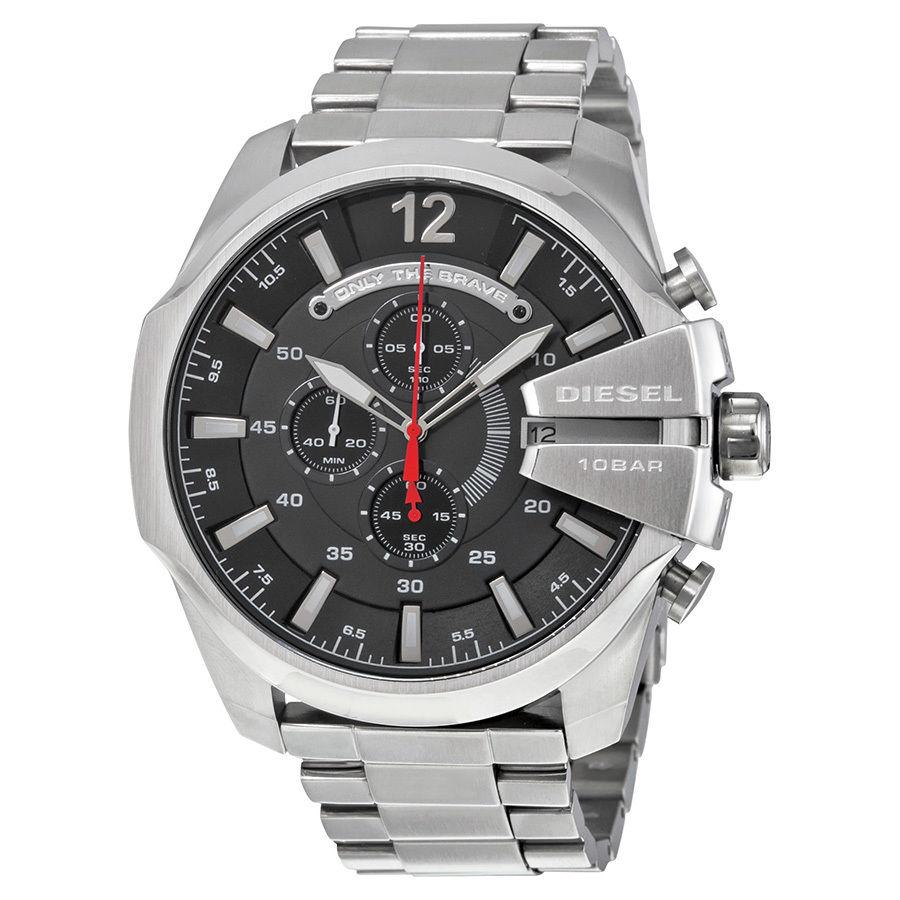 นาฬิกาผู้ชาย Diesel รุ่น DZ4308, Mega Chief Chronograph Stainless Steel