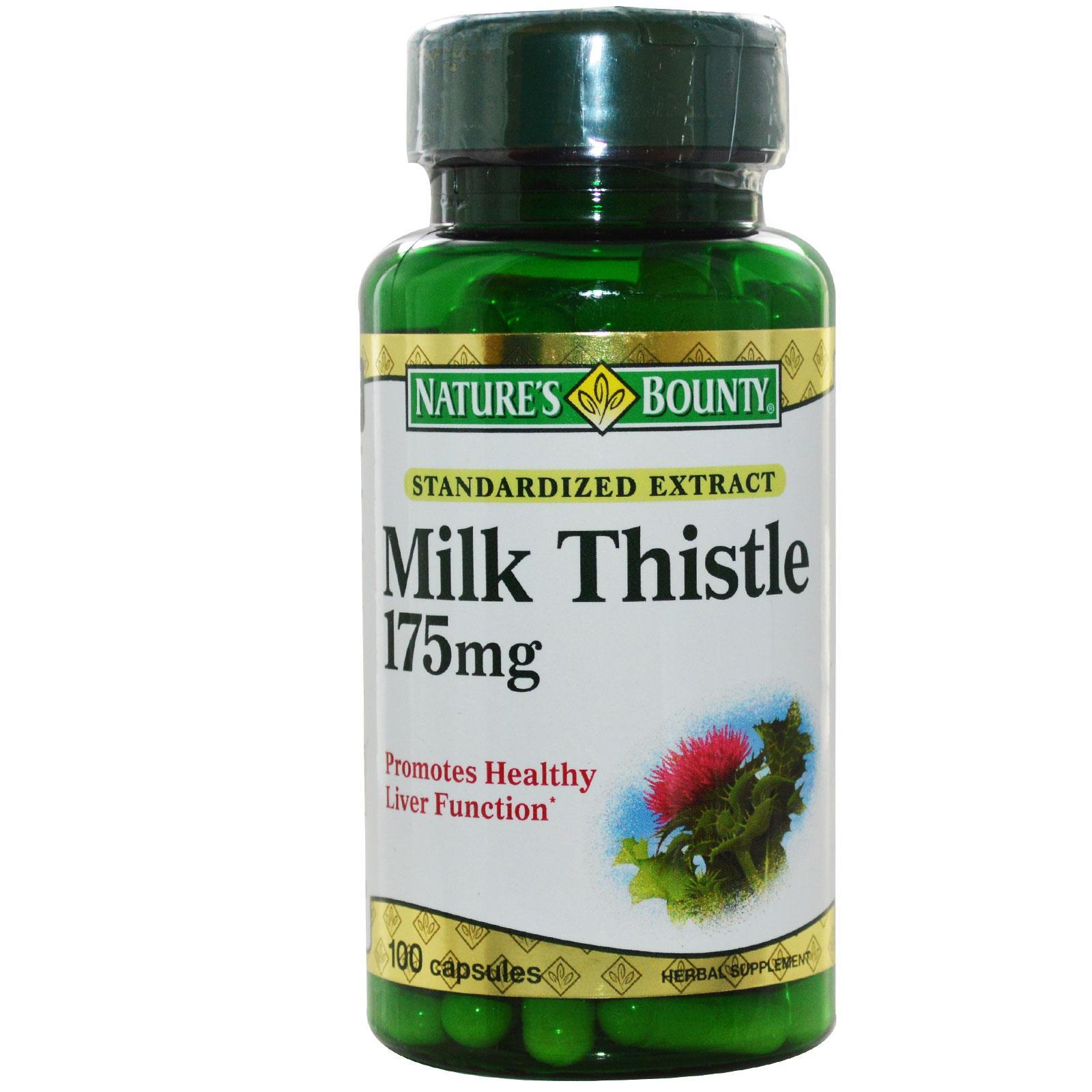 Nature's Bounty Milk Thistle 175 mg 100 Capsules