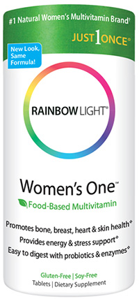Rainbow Light, Just Once, Women's One, Food-Based Multivitamin, 150 Tablets
