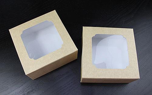 กล่องขนม กล่องสแน็ค หน้าต่าง คราฟ หลังขาว snack