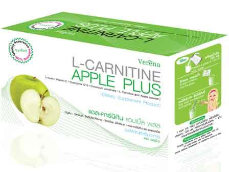 L-Carnitine Apple Plus(แอล-คาร์นิทีน แอปเปิ้ล พลัส) บรรจุ10ซอง