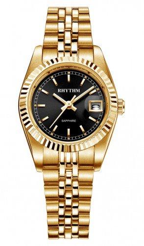 นาฬิกาผู้หญิง Rhythm รุ่น R1203S06, Traditional Oyster Sapphire Gold R1203S 06, R1203S-06
