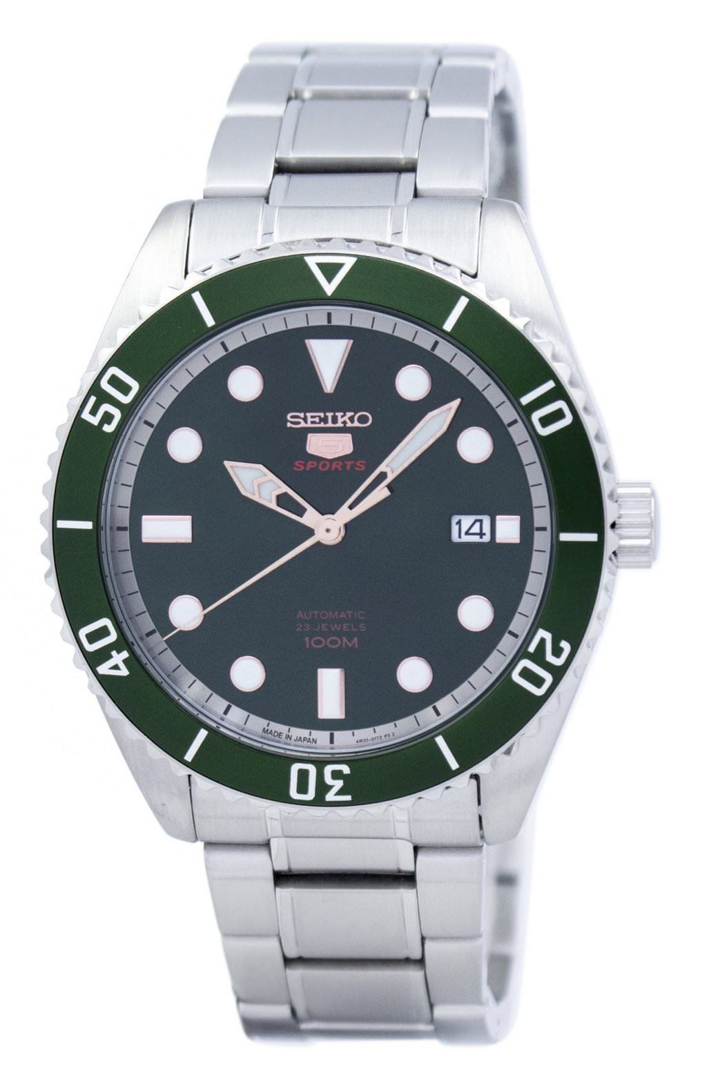 นาฬิกาผู้ชาย Seiko รุ่น SRPB93J1, Seiko 5 Sports Automatic Japan