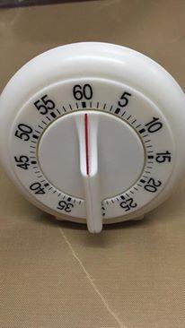 นาฬิกาตั้งเวลา นาฬิกาจับเวลา ทำอาหาร ทำเบเกอรี่ แบบมือหมุน ทรงกลม