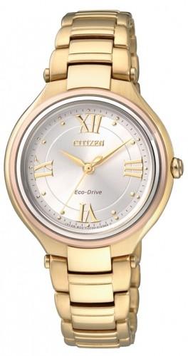 นาฬิกาข้อมือผู้หญิง Citizen Eco-Drive รุ่น FE2043-52A, Japan Sapphire Elegant Watch
