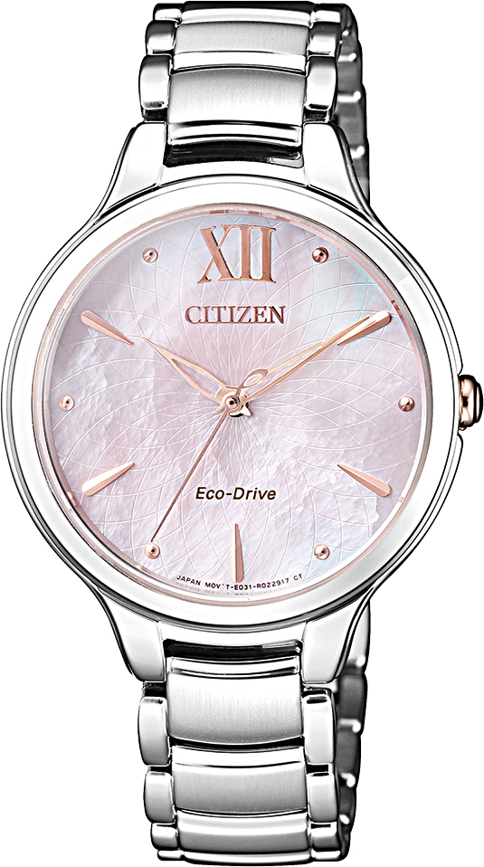 นาฬิกาผู้หญิง Citizen Eco-Drive รุ่น EM0558-81Y, Citizen L Mother Of Pearl Ladies Watch