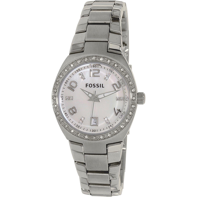 นาฬิกาผู้หญิง Fossil รุ่น AM4141, Flash Swarovski Mother Of Pearl Dial Women's Watch