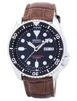 นาฬิกาผู้ชาย Seiko รุ่น SKX007J1-LS7, Automatic Diver's Ratio Brown Leather