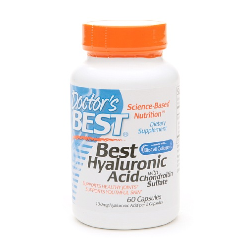 Doctor's Best Best Hyaluronic Acid with Chondroitin Sulfate, Capsules 60 ea