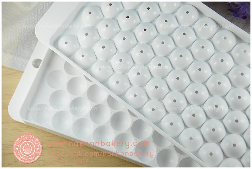 ถาดพลาสติก สำหรับทำน้ำแข็ง บัวลอย ลูกชิ้น วุ้น รูปวงกลม จำนวน 63 ช่อง