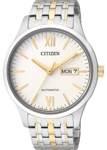 นาฬิกาข้อมือผู้ชาย Citizen รุ่น NP4074-52A, Luxury Automatic Sapphire 50m