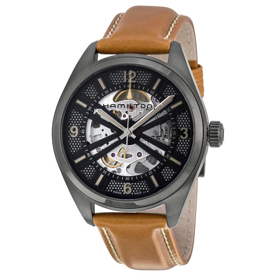 นาฬิกาผู้ชาย Hamilton รุ่น H72585535, KHAKI FIELD SKELETON AUTO