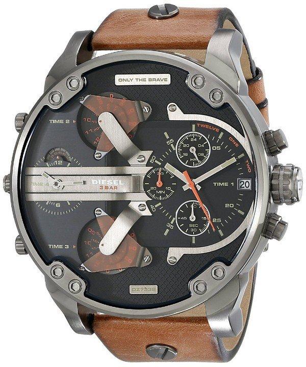 นาฬิกาผู้ชาย Diesel รุ่น DZ7332, Mr. Daddy 2.0 Black Dial
