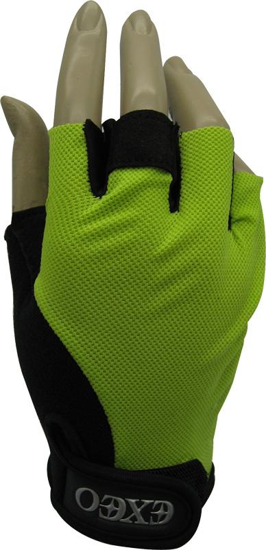 ถุงมือจักรยาน EXEO #CG-3001 สีเขียว/ดำ