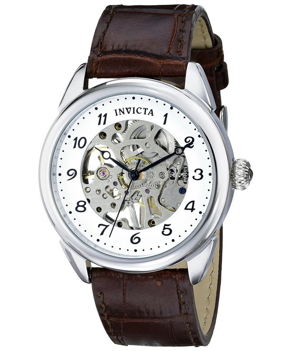 นาฬิกาผู้ชาย Invicta รุ่น INV17187, Specialty Silver Skeleton Dial