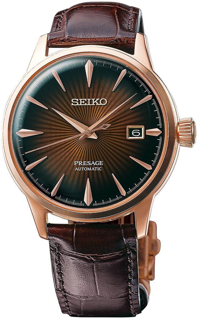นาฬิกาผู้ชาย Seiko รุ่น SRPB46, Presage Automatic Sunray Dial Leather Strap