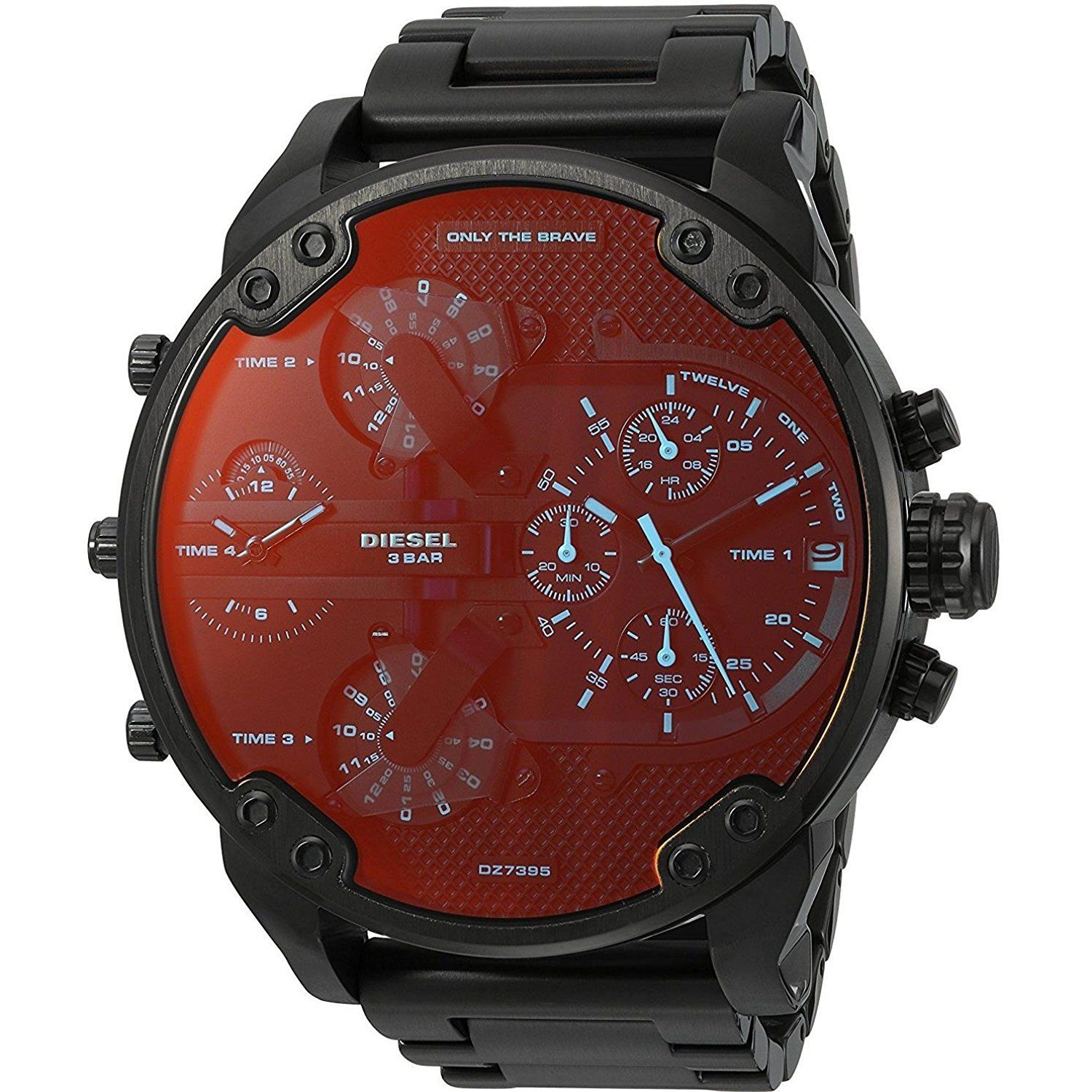 นาฬิกาผู้ชาย Diesel รุ่น DZ7395, Mr. Daddy 2.0 Black Chronograph Stainless Men's Watch