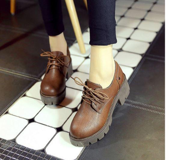 รองเท้าบูทหนังPU