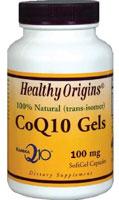 Healthy Origins CoQ10 Kaneka Q10 Gels 100 mg 150 Softgels