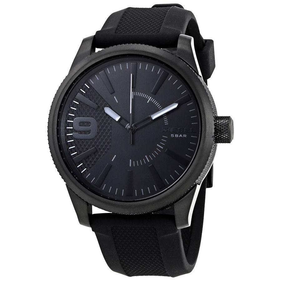 นาฬิกาผู้ชาย Diesel รุ่น DZ1807, Rasp Black Silicone