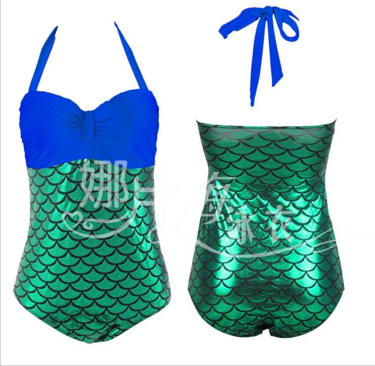 One Piece พร้อมส่ง : ชุดแฟชั่นว่ายน้ำวันพีชสีน้ำเงินแต่งลายสีเขียวเกล็ดปลาสีสันสดใส สายคล้องคอผูกโบว์แบบเก๋ sexy มากๆจ้า:รอบอก38-46นิ้ว เอว36-46นิ้ว สะโพก40-50นิ้วจ้า