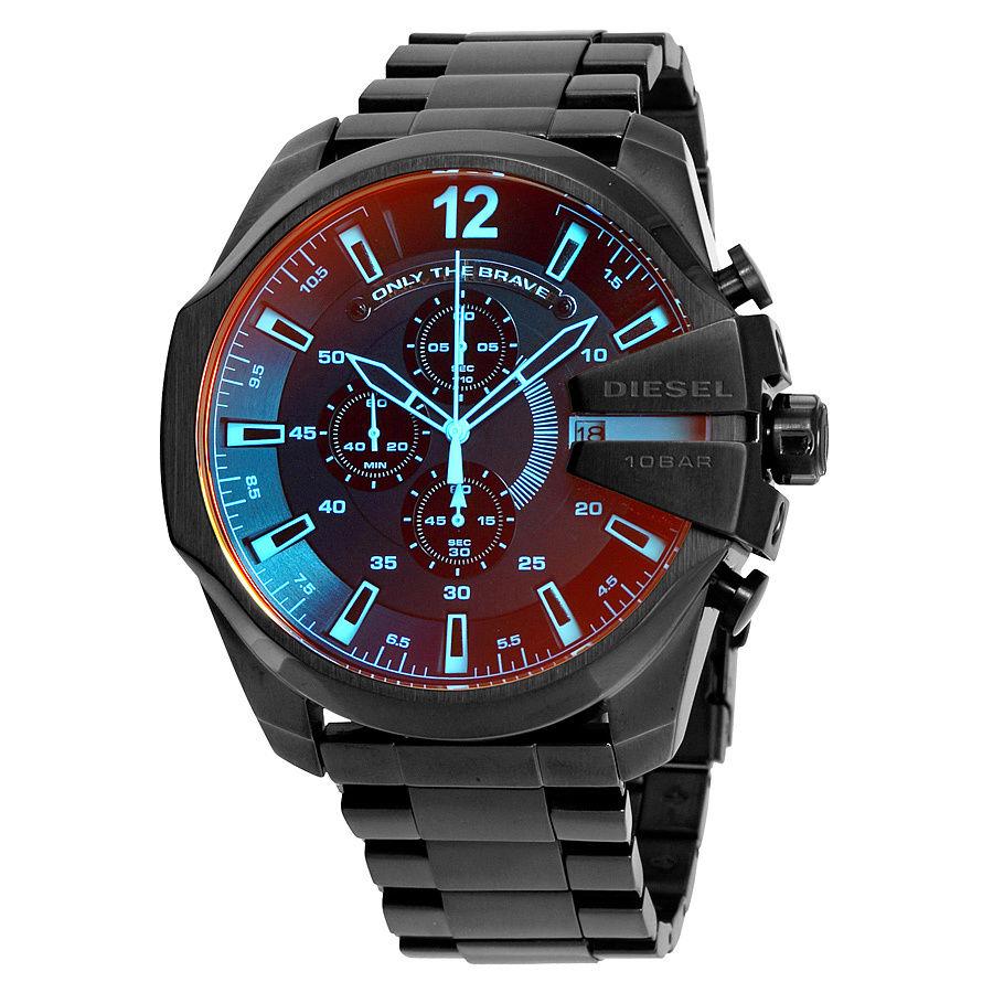 นาฬิกาผู้ชาย Diesel รุ่น DZ4318, Mega Chief Black Ion-Plated Stainless Steel Men's Watch