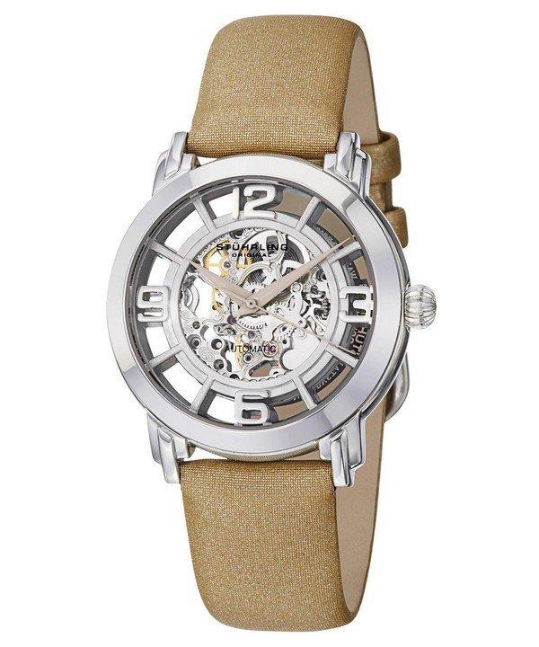 นาฬิกาผู้หญิง Stuhrling Original รุ่น 156.121S2, Winchester Automatic Skeleton Dial