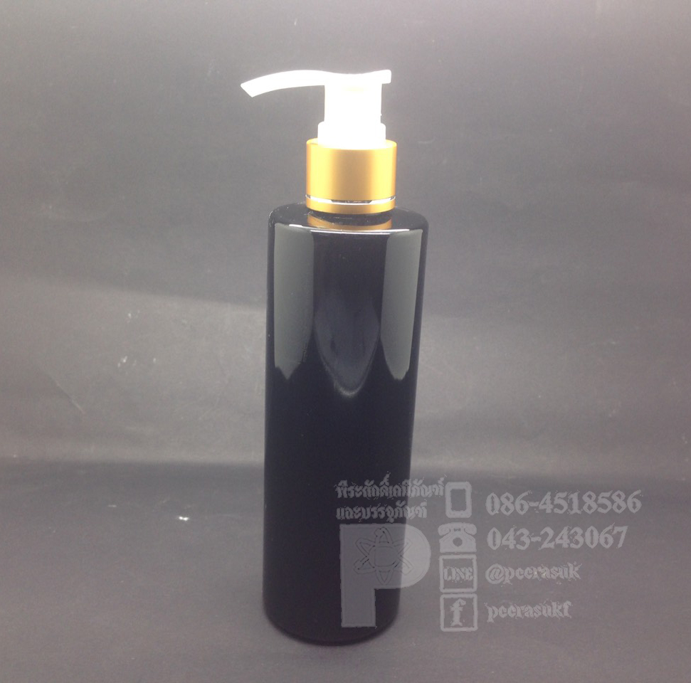 SA250 ml สีดำ+ปั้มทอง แพคละ 10 ชิ้น