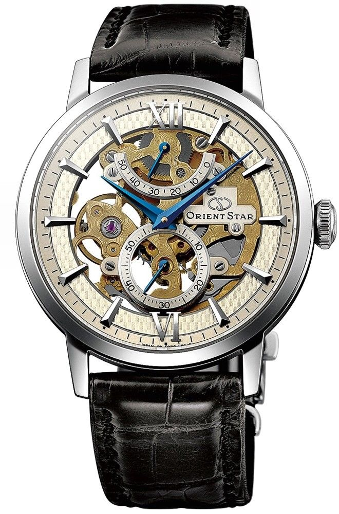 นาฬิกาผู้ชาย Orient รุ่น SDX02002S, Orient Star Skeleton Mechanical Hand Winding Power Reserve Men's Watch