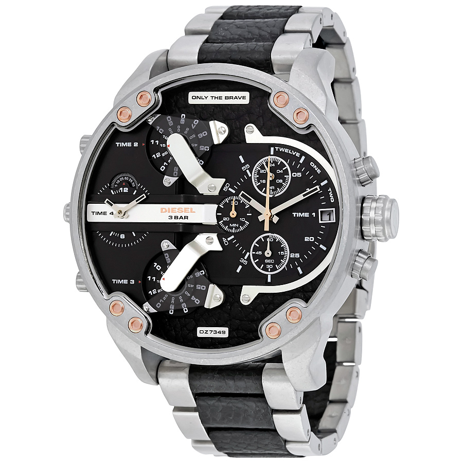 นาฬิกาผู้ชาย Diesel รุ่น DZ7349, Mr Daddy 2.0 Chronograph Stainless Steel 4 Time Zone Men's Watch
