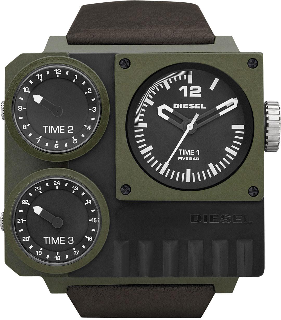 นาฬิกาผู้ชาย Diesel รุ่น DZ7248, Super Bad Ass Brown Leather Men's Watch