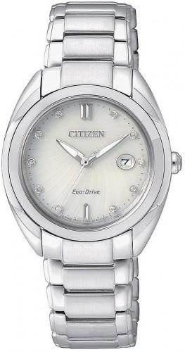 นาฬิกาข้อมือผู้หญิง Citizen Eco-Drive รุ่น EM0310-61A, Diamonds Sapphire Elegant