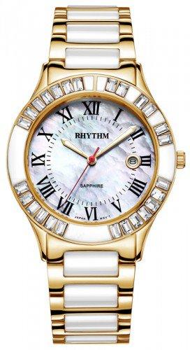 นาฬิกาผู้หญิง Rhythm รุ่น F1203T04, Sapphire Fashion Series Gold F1203T-04, F1203T 04