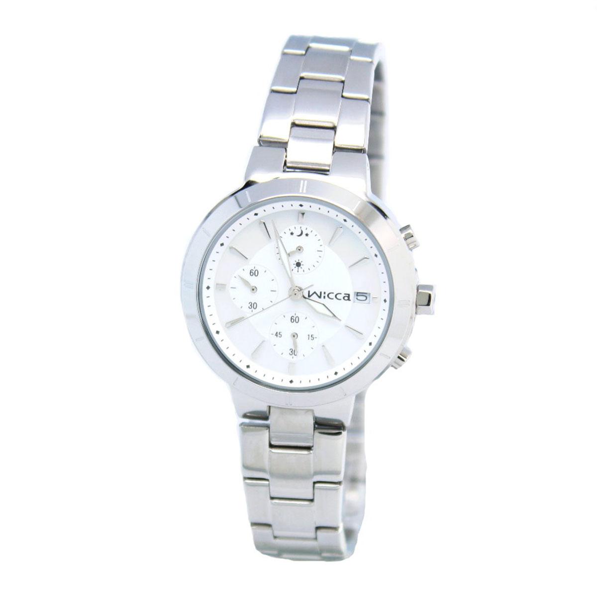 นาฬิกาผู้หญิง Citizen รุ่น BM2-217-11, Casual Chrono Analog Silver Watch