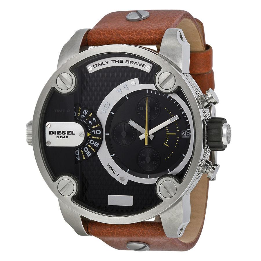 นาฬิกาผู้ชาย Diesel รุ่น DZ7264, Little Daddy Chronograph Brown Leather Men's Watch