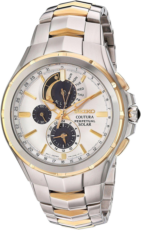 นาฬิกาผู้ชาย Seiko รุ่น SSC560, Coutura Solar Chronograph Perpetual Calendar Men's Watch