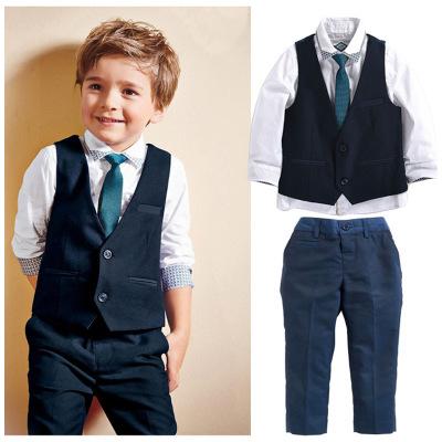 ID409- เสื้อ+กางเกง+เสื้อกั๊ก 6 ชุด /แพค ไซส์ 2-7T