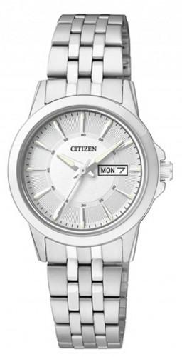 นาฬิกาผู้หญิง Citizen รุ่น EQ0601-54A, Silver Dial Analog Dress