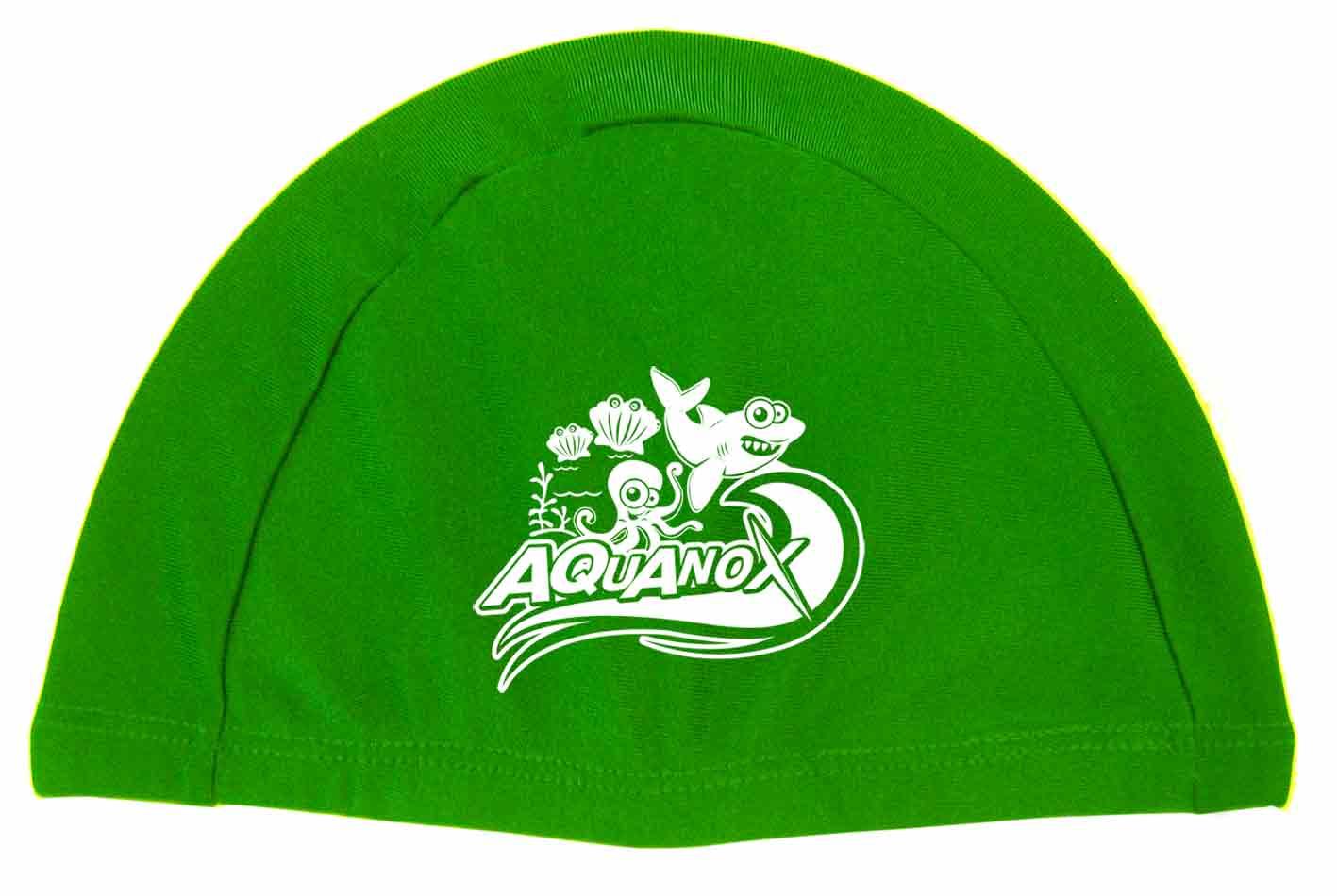 หมวกว่ายน้ำเด็กผ้าไลครา AQUANOX