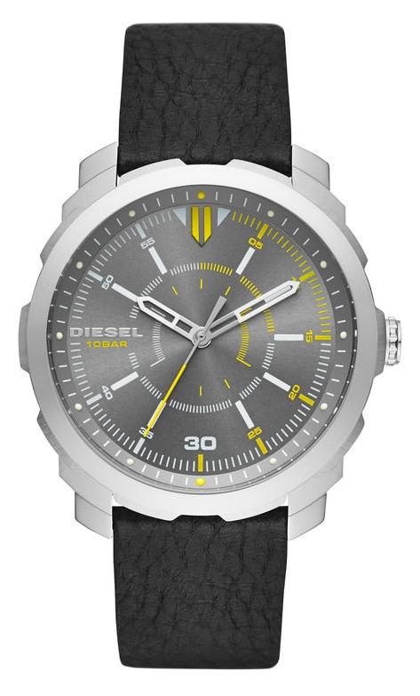 นาฬิกาผู้ชาย Diesel รุ่น DZ1739, Machinus Gray Dial Black Leather