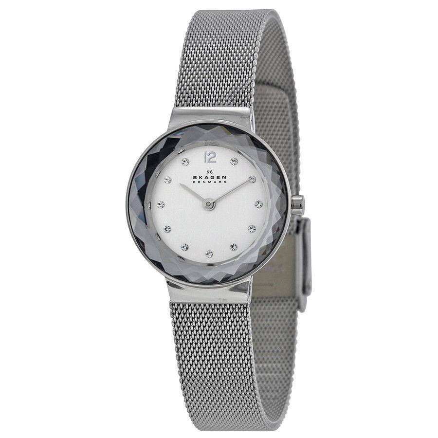 นาฬิกาผู้หญิง Skagen รุ่น 456SSS, Leonora Quartz Mesh Bracelet Women's Watch