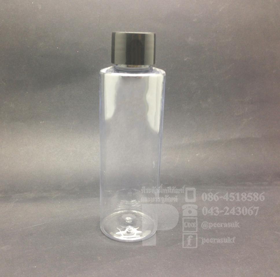 ขวด SA 120 ml ใส+จุกตัน+ฝาเกลียวดำ แพคละ 10 ชิ้น